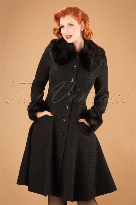 swing coat 30s alise swing coat in black