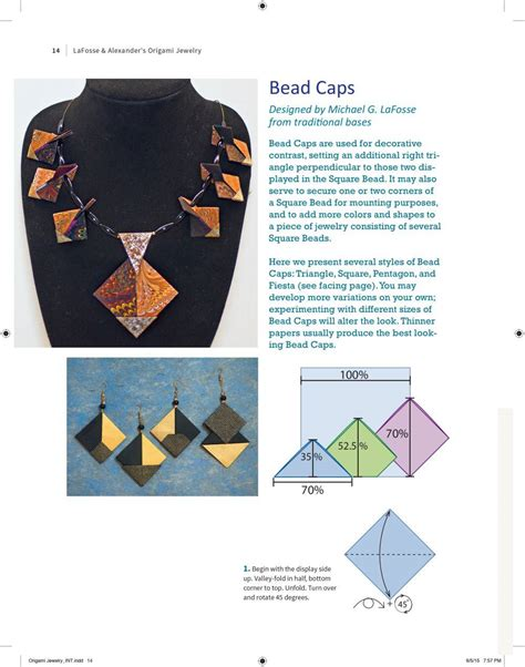 Origami Jewelry Book - booktopia lafosse and s origami jewelry easy