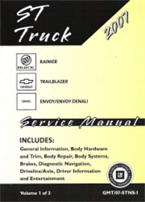 free car manuals to download 2007 gmc envoy seat position control 2007 chevrolet trailblazer gmc envoy buick rainier suv service manual 3 vol set
