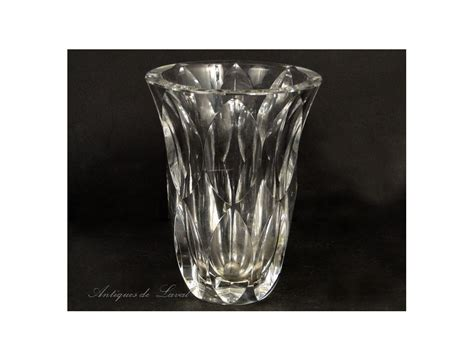 Chrystal Vase by Cut Vase St Louis 20th