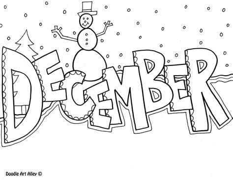 December Coloring Page December Coloring Pages To Download And Print For Free