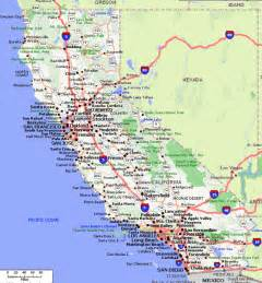 california road map with cities free printable detailed road map california