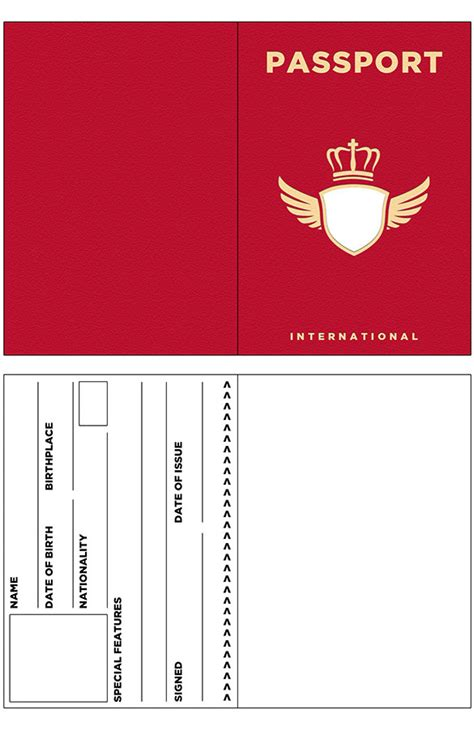 hospital passport template images templates design ideas