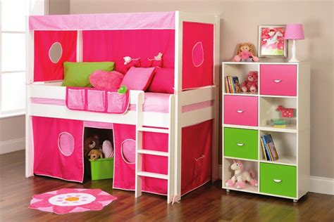 Play Beds by Bunk Beds Stompa Play Mid Sleeper Bed Frame With Slide