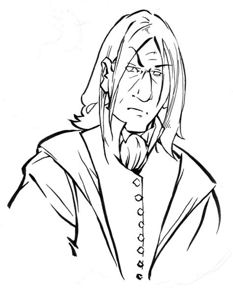 harry potter coloring pages snape snape outline badge by kieshar on deviantart