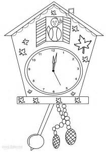 printable coloring pages gt cuckoo clock gt 27674 cuckoo