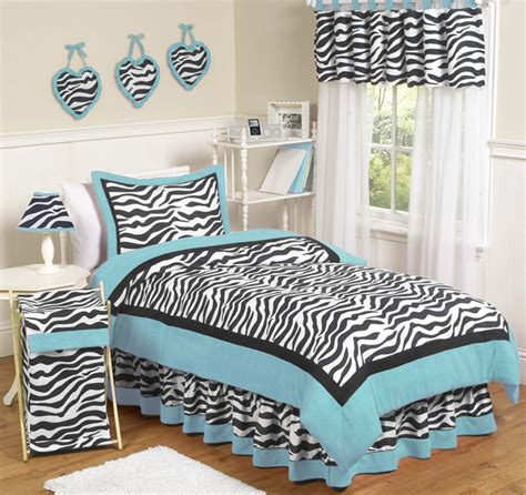 zebra bedroom sets turquoise blue black zebra print teen kids twin girl jojo