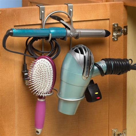 Hair Dryer Rack cabinet styling rack in hair dryer holders