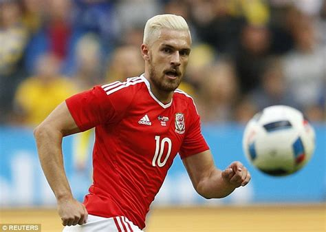 aaron ramsey bleaches hair for wales euro 2016 caign marouane fellaini follows aaron ramsey and goes for a