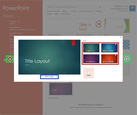Presentation Gallery In Powerpoint 2016 For Windows Microsoft Powerpoint Templates Windows 7