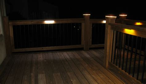 under deck lighting ideas top rail lighting types of under rail illumination