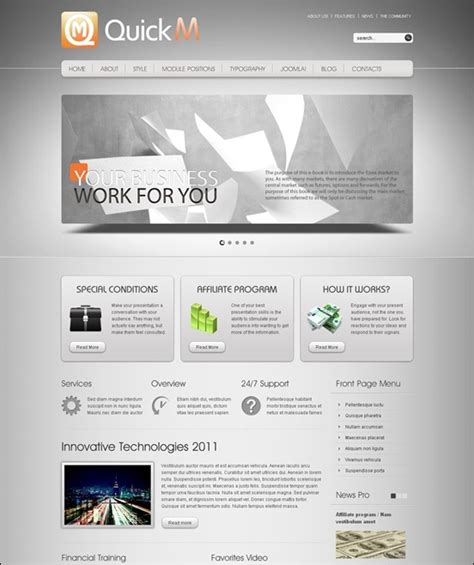 joomla themes gantry 40 of the best joomla 2 5 templates