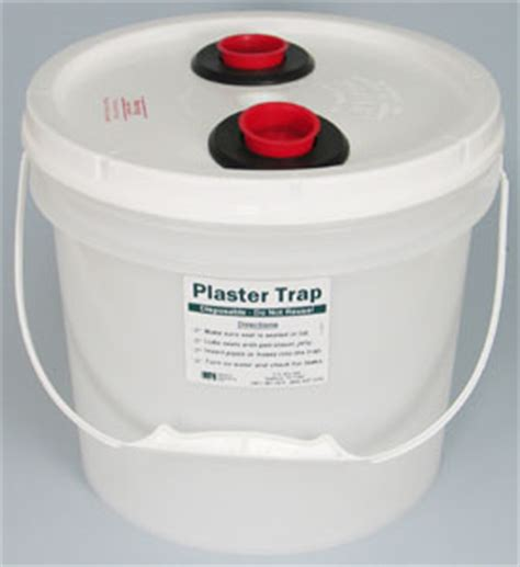 plaster traps for sinks disposable plaster trap with seals 3 5 gallon