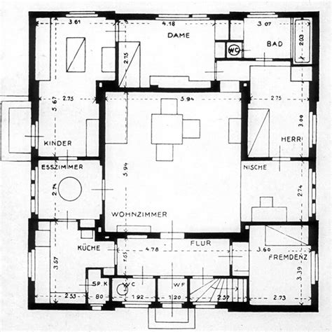 layout drawing en français a prototypal house at the bauhaus the haus am horn by