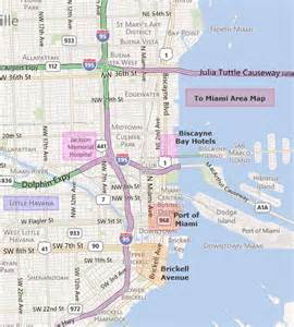 Map Of Downtown Miami by Map Of Miami Area Hotels Submited Images