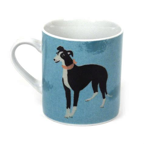 Archie The Lurcher   Woof Magpie Mug   Pink Cat Shop