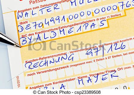 deutsche bank frankfurt iban stock photography of payment slip with iban number a