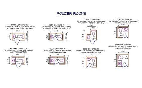 Powder Room Size by Powder Room Sizes Revit