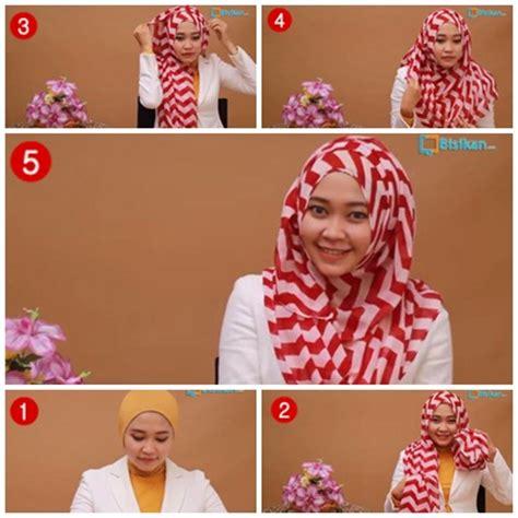 tutorial hijab syari kartun tutorial hijab cara memakai jilbab pashmina wajah bulat