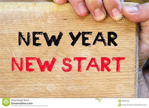 new year new start new new year new start text concept stock photo image 86600760