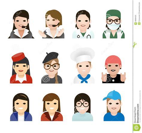 pattern illustrator jobs user woman jobs icons vector stock photos image 36808423