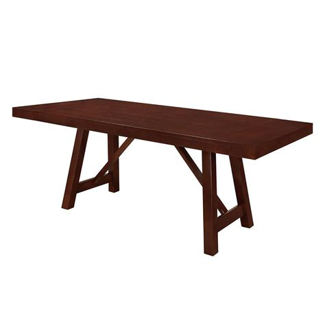 solid wood trestle dining table walker edison furniture company 60 in espresso solid wood
