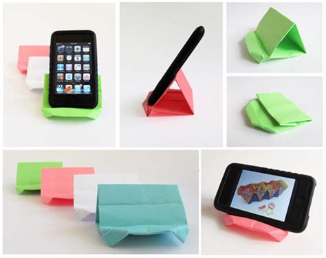 How To Make Paper Phone - origami how to make a paper stand for a