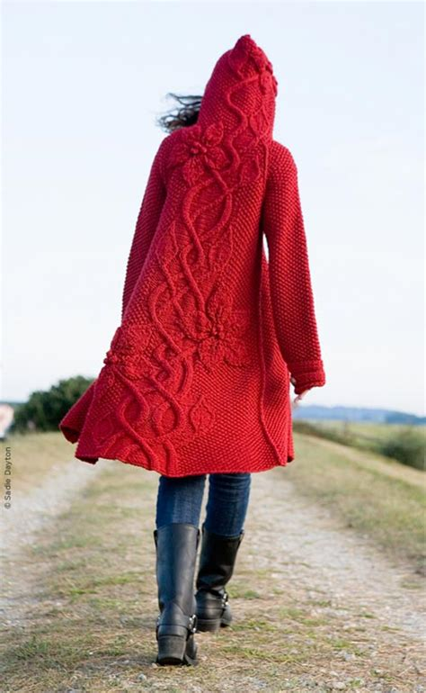 pattern red winter clothes twist collective