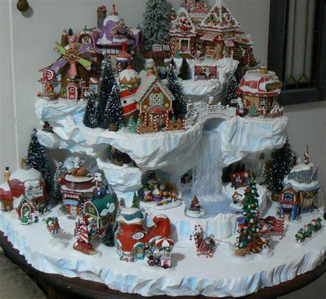 christmas village backdrop