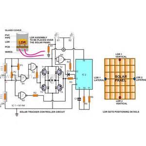 solar panel sun tracker circuit solar wiring diagram free