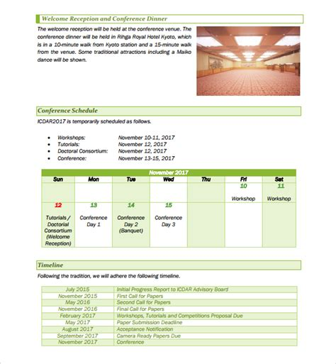 conference template sle conference template 14 free documents