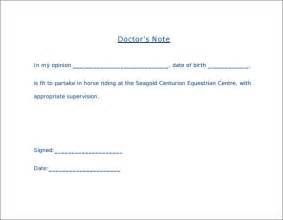 Dr Note Template by Sle Doctor Note 30 Free Documents In Pdf Word