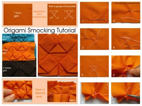 origami techniques tutorial origami smocking by maria technique sewing hand