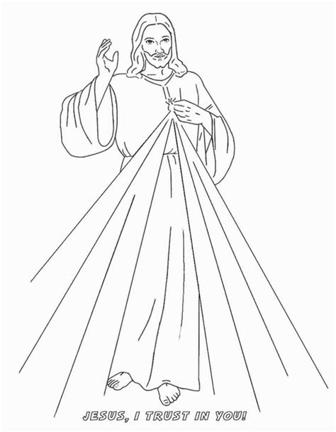 preschool coloring pages jesus divine mercy coloring page easter season pinterest