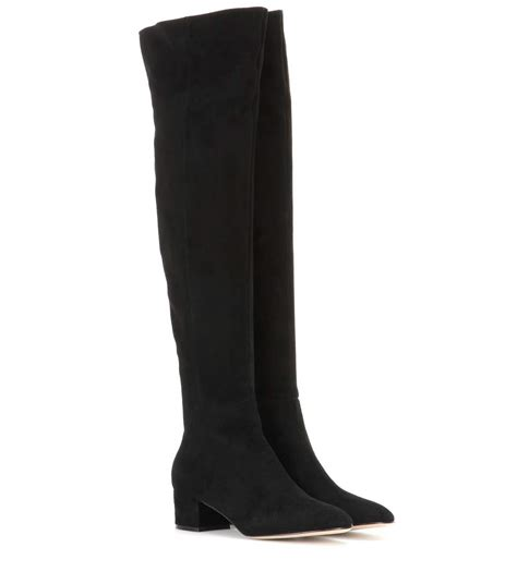 mytheresa suede the knee boots gianvito