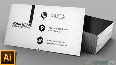 Clean Modern Business Card Illustrator Tutorial