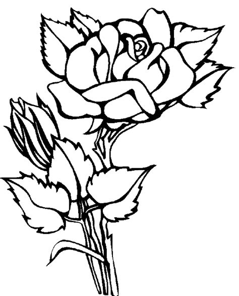 Coloring Pages Of Red Roses | red rose coloring pages coloring pages
