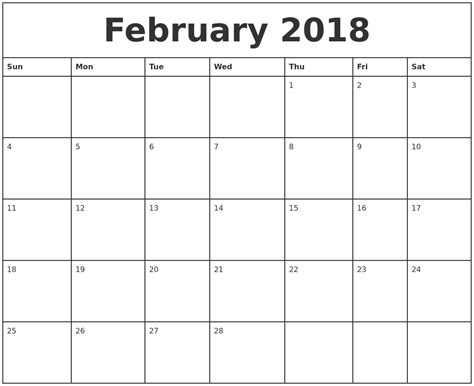 Monthly Calendar 2018 March 2018 Calendar Maker