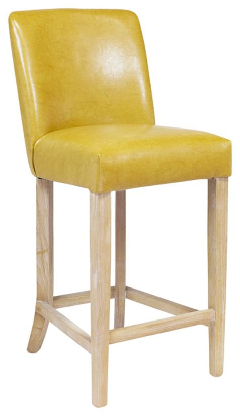 Yellow Leather Counter Stools duval counter stool yellow leather modern bar stools