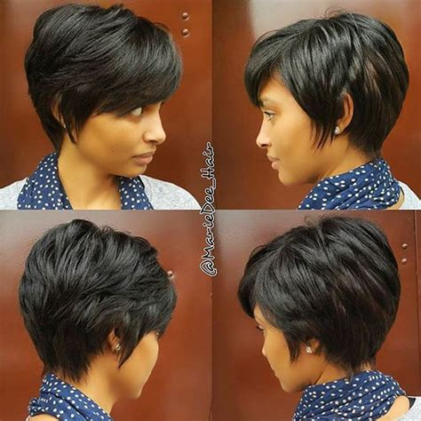weave styles for growing out a pixie cut stylist feature love this grown out pixie styled by