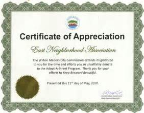 Thank you volunteer appreciation certificates