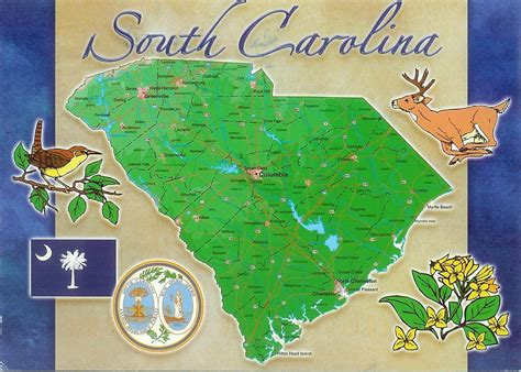 south carolina map usa detailed map of south carolina state research project