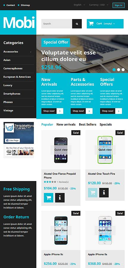 free prestashop themes mobile store mobile store responsive prestashop theme tablet layout