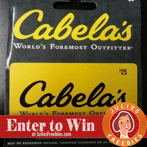 Where Can You Get Cabelas Gift Cards - win a 500 cabela s gift card julie s freebies