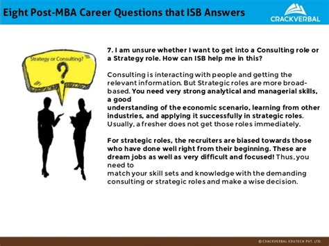 Best Strategy Roles For Mba isb admissions kit