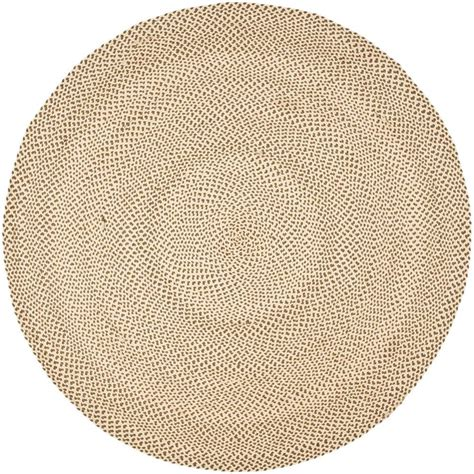 rugs 6 ft safavieh braided beige brown 6 ft x 6 ft area rug brd173a 6r the home depot