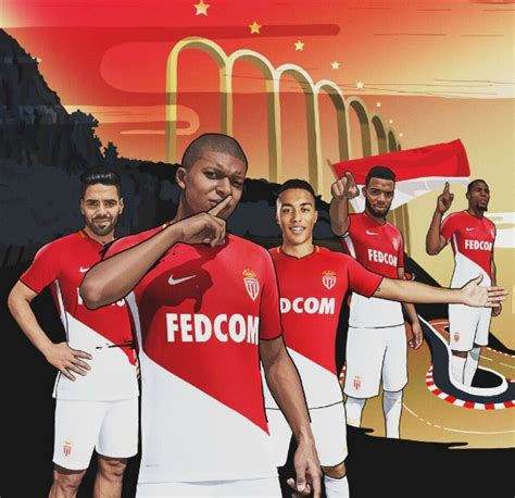 New Monaco new monaco jersey 2017 2018 mbappe lemar help launch asm home kit football kit news new