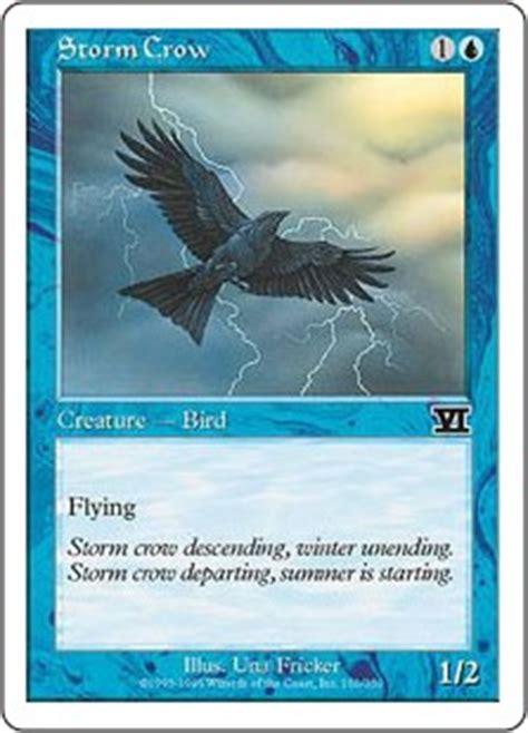 Storm Crow Meme - storm crow classic sixth edition gatherer magic the