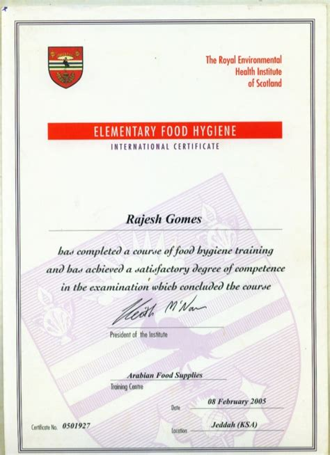 Food Hygiene Certificate Home Kitchen by Food Hygiene From Scotland