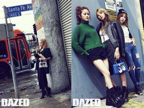 4minute for dazed korea september 2015 4minute roams the streets of la in latest shoot for quot dazed